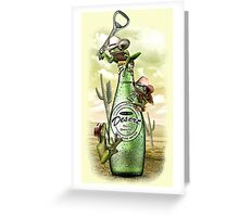 THIRSTY FROGS Greeting Card