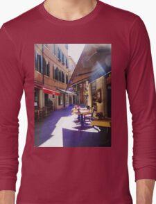 An Italian Café in the Heart of Venice  Long Sleeve T-Shirt