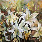Lilies White by bevmorgan