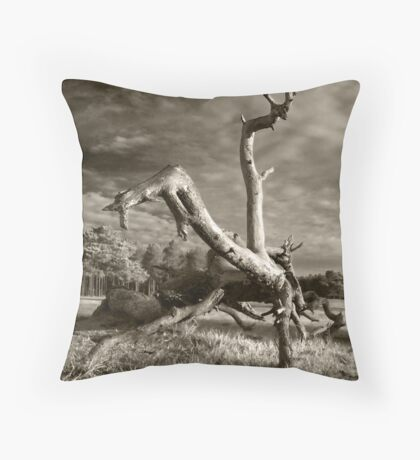 Acrobatics natural Throw Pillow