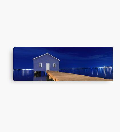Crawley Edge Boatshed Panorama  Canvas Print