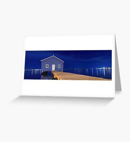 Crawley Edge Boatshed Panorama  Greeting Card