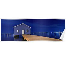 Crawley Edge Boatshed Panorama  Poster