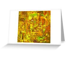 Busy Yellow Greeting Card
