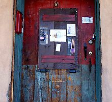Message Board-Door in Santa Fe by David DeWitt
