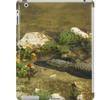 Gator n FLower iPad Case/Skin