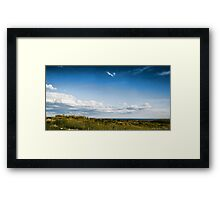 clouds and sea Framed Print