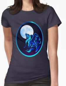 Fantasy Wolf Framed Womens Fitted T-Shirt