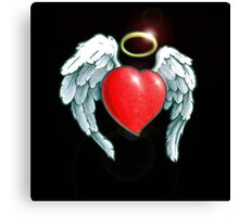 Angel Heart Design Canvas Print