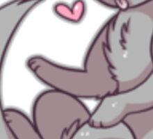 Gray cat Sticker