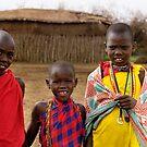 Village children, Maasai Mara, Kenya by Bev Pascoe