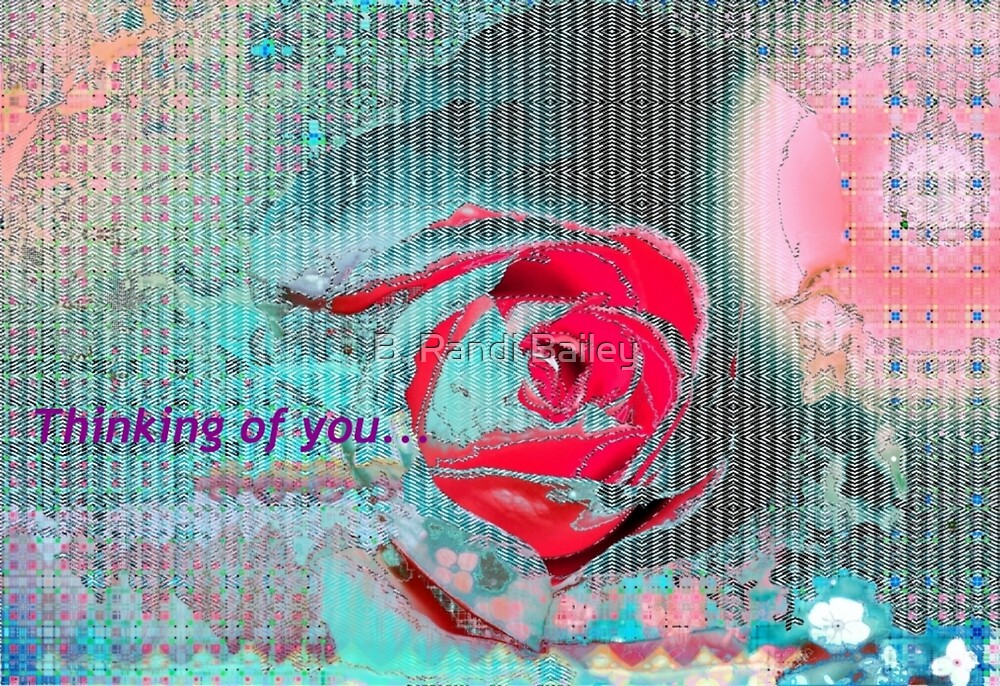 Aqua rose card design by ♥⊱ B. Randi Bailey