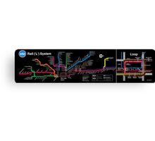 CTA MAP BLACK Canvas Print