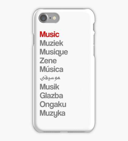 Music (10 languages) iPhone Case/Skin