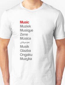 Music (10 languages) Unisex T-Shirt