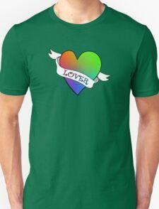 Lover's Heart (Gold) Unisex T-Shirt