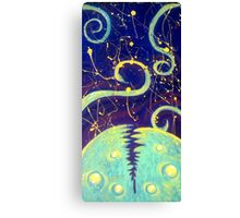 Pollock Space Monster Canvas Print