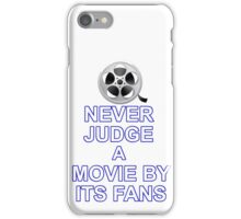 Never Judge A Film iPhone Case/Skin