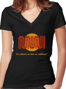 It's almost as fast as walking.™ Women's Fitted V-Neck T-Shirt