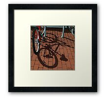 Bikes & Bricks-  oil painting Framed Print