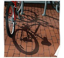 Bikes & Bricks-  oil painting Poster