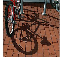 Bikes & Bricks-  oil painting Photographic Print