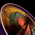 Ferris Wheel at Night by JayHolt