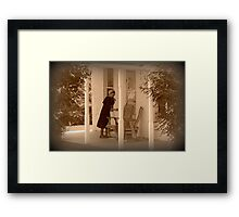 Saturday Chores Framed Print