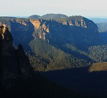 Late Afternoon from Govertts Leap - Blue Mountains, NSW, Australia by Ruth Durose