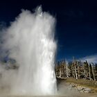 Grand Geyser Eruption by Stephen Beattie