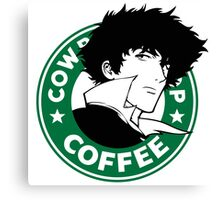 Cowboy Bebop X Starbucks Inspired Illustration. Canvas Print