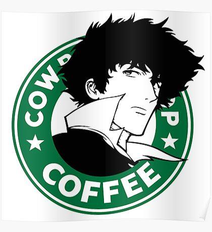 Cowboy Bebop X Starbucks Inspired Illustration. Poster