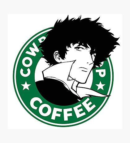 Cowboy Bebop X Starbucks Inspired Illustration. Photographic Print