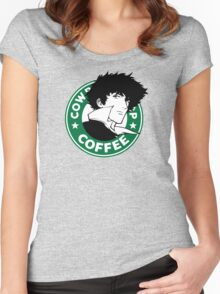 Cowboy Bebop X Starbucks Inspired Illustration. Women's Fitted Scoop T-Shirt