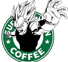 Dragonball Z Vegeta X Starbucks Inspired Art by fauxbucks