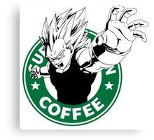 Dragonball Z Vegeta X Starbucks Inspired Art Canvas Print