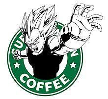 Dragonball Z Vegeta X Starbucks Inspired Art Photographic Print
