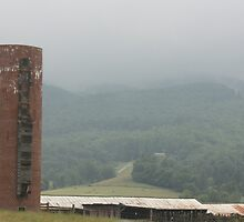 Silo in the Fog by Cathy Cale