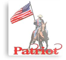 Mounted Patriot  Metal Print