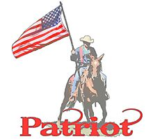 Mounted Patriot  Photographic Print