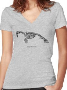 I was the walrus Women's Fitted V-Neck T-Shirt