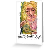 Now I See the Light Greeting Card
