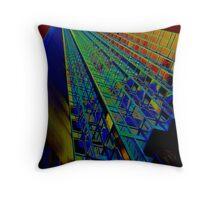Nightime Rainbow Throw Pillow
