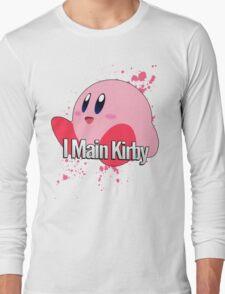 I Main Kirby - Super Smash Bros. Long Sleeve T-Shirt
