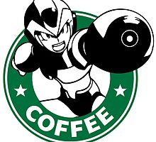 MegaMan X Starbucks Inspired Art by fauxbucks