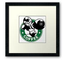 MegaMan X Starbucks Inspired Art Framed Print