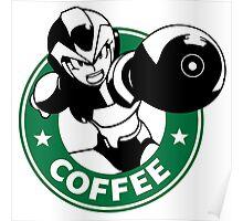 MegaMan X Starbucks Inspired Art Poster