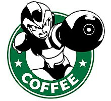 MegaMan X Starbucks Inspired Art Photographic Print