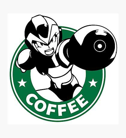 MegaMan X Starbucks Inspired Art Photographic Print