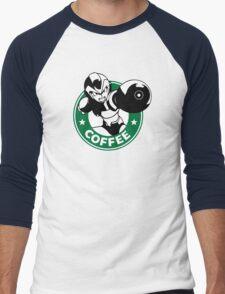 MegaMan X Starbucks Inspired Art Men's Baseball ¾ T-Shirt